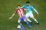Atletico de Madrid's Juanfran Torres (l) and FC Barcelona's Andre Gomes during Spanish Kings Cup semifinal 1st leg match. February 01,2017. (ALTERPHOTOS/Acero)