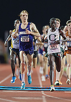 Scott Fauble (978) of Portland crosses the finish line in 10000 meter semifinal during West Preliminary Track and Field Championships, Friday, May 29, 2015 in Austin, Tex. (Mo Khursheed/TFV Media via AP Images)