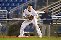 Michigan State Spartans first baseman Ryan Krill #44 during a game against the St. John's Red Storm at the Big Ten/Big East Challenge at Florida Auto Exchange Stadium on February 17, 2012 in Dunedin, Florida.  (Mike Janes/Four Seam Images)