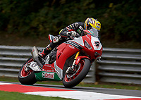 Dan Linfoot (4) of Honda Racing during 2nd practice in the MCE BRITISH SUPERBIKE Championships 2017 at Brands Hatch, Longfield, England on 13 October 2017. Photo by Alan  Stanford / PRiME Media Images.