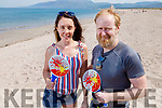 Aoife McEvoy and Kevin Hannafin enjoying the beach in Castlegregory on Bank Holiday Monday.