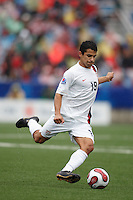 USA midfielder (19) Tony Beltran. Austria (AUT) defeated the United States (USA) 2-1 in overtime of a FIFA U-20 World Cup quarter-final match at the National Soccer Stadium at Exhibition Place, Toronto, Ontario, Canada, on July 14, 2007.