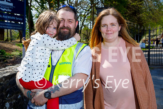 Enjoying a stroll in the Demesne in Killarney on Thursday, l to r: James and Sofia Roche and Sandra Locke.