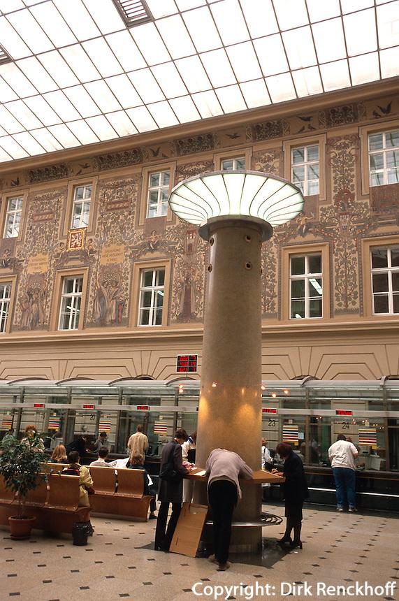 Hauptpost, Prag, Tschechien, Unesco-Weltkulturerbe.