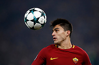 Football Soccer: UEFA Champions League AS Roma vs Qarabag FK Stadio Olimpico Rome, Italy, December 5, 2017. <br /> Roma's Diego Perotti in action during the Uefa Champions League football soccer match between AS Roma and Qarabag FK at at Rome's Olympic stadium, December 05, 2017.<br /> UPDATE IMAGES PRESS/Isabella Bonotto