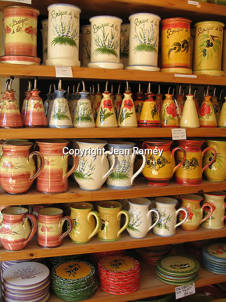 Local Provence pottery