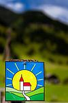 Oesterreich, Salzburger Land, Pongau, Grossarltal: das Symbol fuer den Kapellen-Wanderweg im Grossarltal | Austria, Salzburger Land, region Pongau, valley Grossarltal: symbol for Chapel-Hiking- Trail