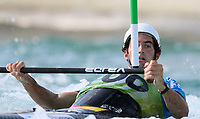 Ander Elosegi, ESP. Oceania Canoe Slalom Championships, Whero Whitewater Park, Auckland, New Zealand, 1st February 2020. Photo: Simon Watts/www.bwmedia.co.nz