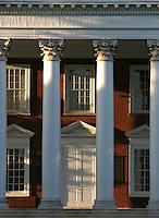 The University of Virginia rotunda in snow winter located in Charlottesville, VA.  Credit Image: © Andrew Shurtleff