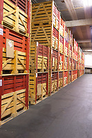 bottles stored in wooden crates f e trimbach ribeauville alsace france