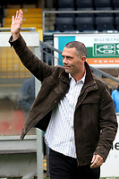 Former Wycombe Wanderers player, Mark West, waves at the fans ahead of kick-off during Wycombe Wanderers vs Colchester United, Coca Cola League Division One Football at Adams Park on 17th October 2009
