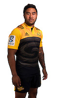 Vince Aso. Hurricanes Super Rugby official headshots at Rugby League Park, Wellington, New Zealand on Wednesday, 6 January 2016. Photo: Dave Lintott / lintottphoto.co.nz