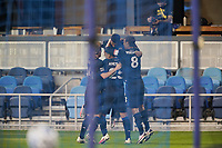 SAN JOSE, CA - OCTOBER 03: Marcos Lopez #27 of the San Jose Earthquakes celebrates scoring with teammates during a game between Los Angeles Galaxy and San Jose Earthquakes at Earthquakes Stadium on October 03, 2020 in San Jose, California.