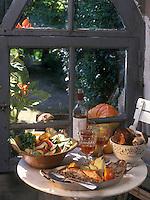 Europe/France/Limousin/19/Corrèze : Tranches de veau rôties au jus et fricassée de légumes aux cèpes