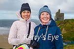 Enjoying a stroll in Ballybunion on Friday, l to r: Mahna and Bridie and McNamara