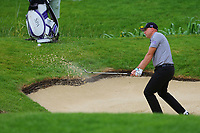 Graeme Storm in an 18th green bunker during the BMW PGA Golf Championship at Wentworth Golf Course, Wentworth Drive, Virginia Water, England on 28 May 2017. Photo by Steve McCarthy/PRiME Media Images.