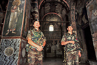 - Kosovo, Italian officers inside the church of the Orthodox Episcopate of Pec<br /> <br /> <br /> <br /> - Kossovo, ufficiali italiani all'interno della chiesa dell'Episcopato Ortodosso di Pec