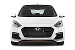 Car photography straight front view of a 2015 Hyundai I30 Turbo 3 Door Hatchback