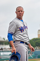 Midland RockHounds Bobby Crosby (7) during a Texas League game against the Frisco RoughRiders on May 22, 2019 at Dr Pepper Ballpark in Frisco, Texas.  (Mike Augustin/Four Seam Images)