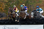 07 November2010: Paddy Young (1st), Dynacast and Roddy McKenzie, Ajeed and Bernie Dalton in the Constitution Hurdle at Montpelier Hunt Races in Montpelier Station, Va. Tizsilk is owned by Roger O'Byrne and trained by Tom Voss.      Susan M. Carter/Eclipse Sportswire
