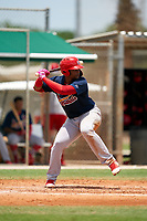 GCL Cardinals Freddy De Jesus (29) during a Gulf Coast League game against the GCL Marlins on August 12, 2019 at the Roger Dean Chevrolet Stadium Complex in Jupiter, Florida.  GCL Marlins defeated the GCL Cardinals 9-2.  (Mike Janes/Four Seam Images)