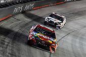 #18: Kyle Busch, Joe Gibbs Racing, Toyota Camry Skittles, #11: Denny Hamlin, Joe Gibbs Racing, Toyota Camry FedEx Freight