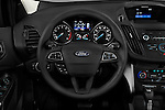 Car pictures of steering wheel view of a 2018 Ford Escape SE 5 Door SUV Steering Wheel
