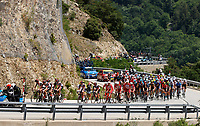 11th July 2021, Ceret, Pyrénées-Orientales, France; Tour de France cycling tour, stage 15, Ceret to  Andorre-La-Vieille; The peloton during stage 15 of the 108th edition of the 2021 Tour de France cycling race, a stage of 191,3 kms between Ceret and Andorre-La-Vieille.