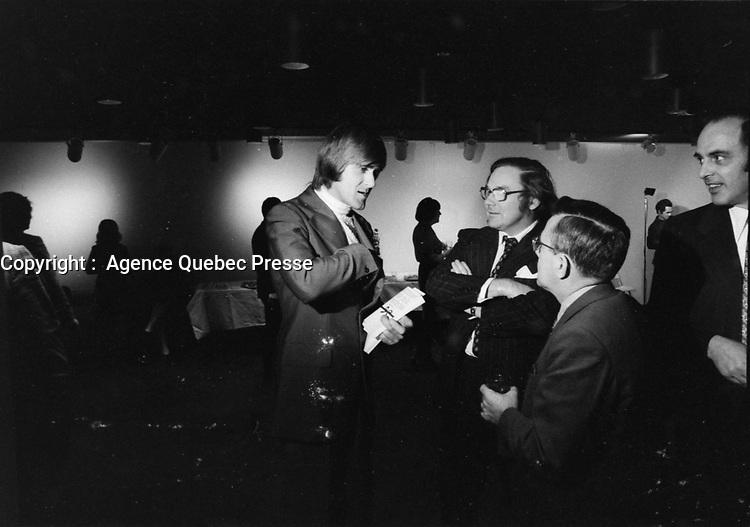 Alain Stanke,<br />   Novembre 1972 (date exacte inconnue)<br /> <br /> PHOTO : Agence Quebec Presse -  Alain Renaud
