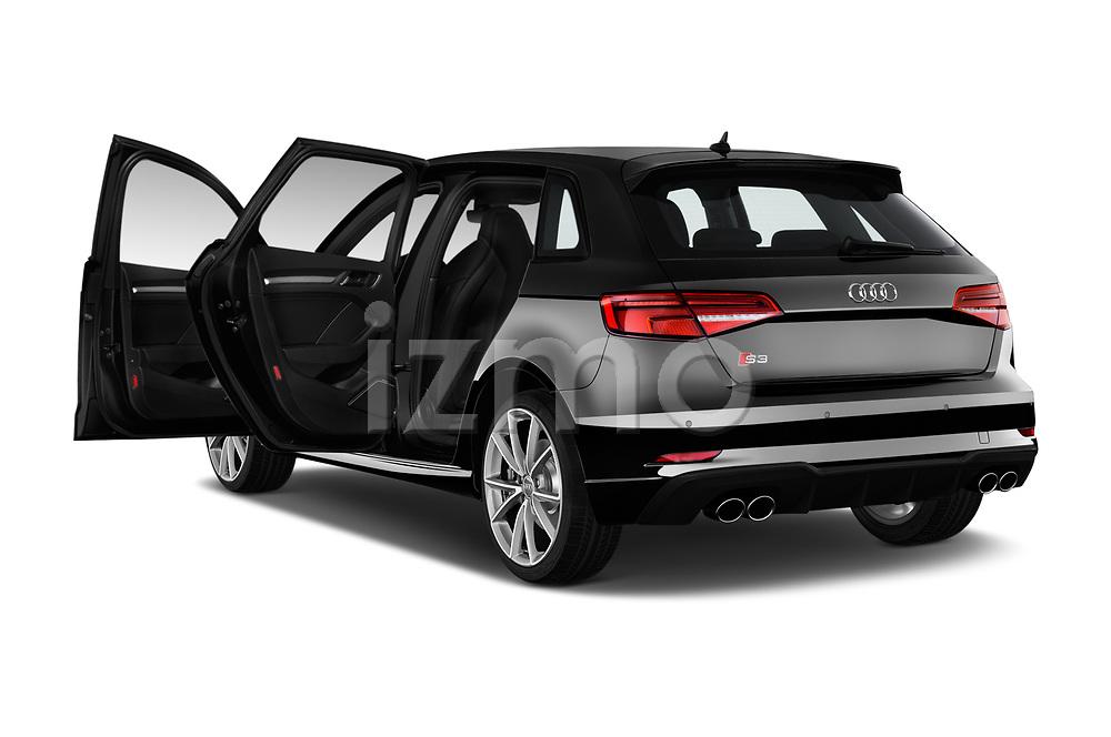 Car images close up view of a 2018 Audi S3 Sportback Base 5 Door Hatchback doors