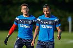 8.3.2018: Rangers training:<br /> James Tavernier and Alfredo Morelos