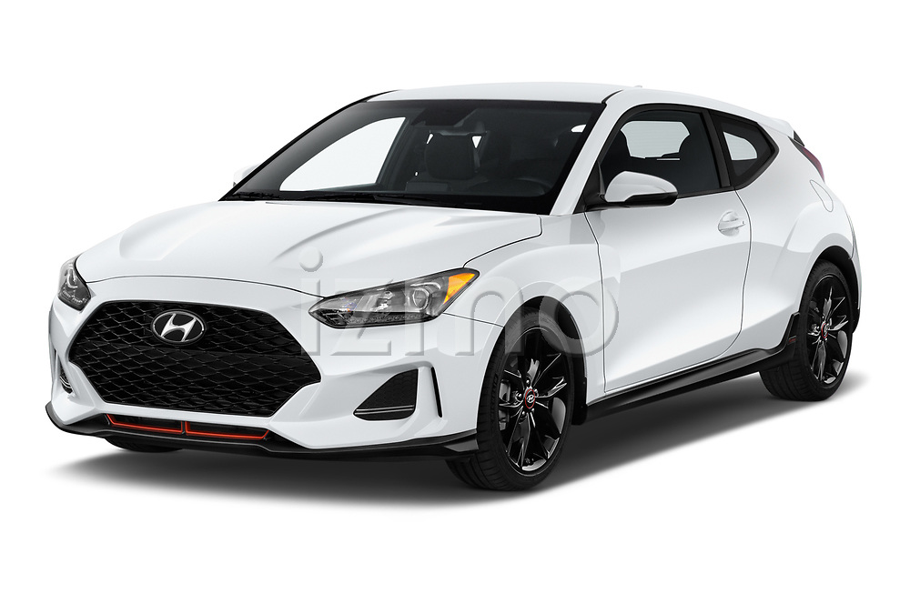 2019 Hyundai Veloster R-Spec 2 Door Coupe Angular Front automotive stock photos of front three quarter view