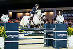 Michael Whitaker of Great Britain riding Valentin R competes in the Hong Kong Jockey Club Trophy during the Longines Masters of Hong Kong at the Asia World Expo on 09 February 2018, in Hong Kong, Hong Kong. Photo by Ian Walton / Power Sport Images