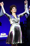 """Lucie Arnaz during the curtain call bows for """"They're Playing Our Song"""" Concert Benefit for The Actors Fund at the Music Box Theatre on February 11, 2019 in New York City."""