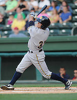 Outfielder Ray Kruml (37) of the Charleston RiverDogs, Class A affiliate of the New York Yankees, in a game against the Greenville Drive on May 27, 2010, at Fluor Field at the West End in Greenville, S.C. Photo by: Tom Priddy/Four Seam Images