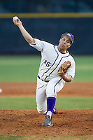 High Point Panthers starting pitcher Andre Scrubb (16) in action against the Coastal Carolina Chanticleers at Willard Stadium on March 15, 2014 in High Point, North Carolina.  (Brian Westerholt/Four Seam Images)