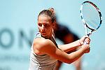 Carolina Pliskova, Czech Republic, during Madrid Open Tennis 2016 match.May, 2, 2016.(ALTERPHOTOS/Acero)