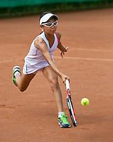 August 4, 2014, Netherlands, Dordrecht, TC Dash 35, Tennis, National Junior Championships, NJK,  Gigi Sy-A-Foek (NED)<br /> Photo: Tennisimages/Henk Koster