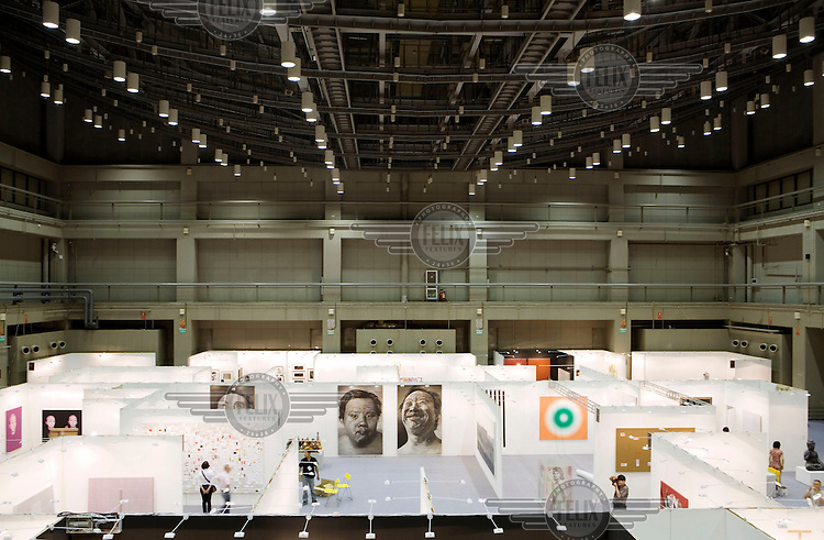 The 4th China International Gallery Exposition 2007 (CIGE 2007). The Chinese art market has seen a meteoric rise in recent years with foreign art collectors flocking to buy works from Chinese galleries and artists.