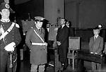 AMEDEO DI SAVOIA CON IL FIGLIO AIMONE<br /> CELEBRAZIONE MILITARE IN ONORE DI AIMONE DI SAVOIA - AOSTA   ROMA 1979