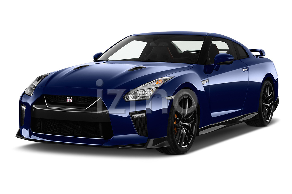 2017 Nissan GT-R Black-Edition 2 Door Coupe Angular Front stock photos of front three quarter view