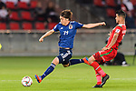 Ito Junya of Japan (L) in action during the AFC Asian Cup UAE 2019 Group F match between Oman (OMA) and Japan (JPN) at Zayed Sports City Stadium on 13 January 2019 in Abu Dhabi, United Arab Emirates. Photo by Marcio Rodrigo Machado / Power Sport Images