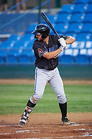 Missoula Osprey Spencer Brickhouse (36) at bat during a Pioneer League game against the Great Falls Voyagers at Centene Stadium at Legion Park on August 19, 2019 in Great Falls, Montana. Missoula defeated Great Falls 1-0 in the second game of a doubleheader. (Zachary Lucy/Four Seam Images)