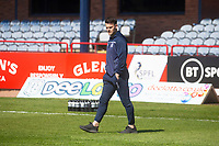 24th April 2021; Dens Park, Dundee, Scotland; Scottish Championship Football, Dundee FC versus Raith Rovers; Danny Mullen of Dundee inspects the pitch before the match