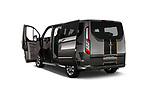 Car images close up view of a 2018 Ford Tourneo Custom Sport 5 Door Passenger Van doors