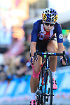 Chloe Dygert (USA) chases in 2nd place on the second circuit of Harrogate during the Women Elite Road Race of the UCI World Championships 2019 running 149.4km from Bradford to Harrogate, England. 28th September 2019.<br /> Picture: Eoin Clarke | Cyclefile<br /> <br /> All photos usage must carry mandatory copyright credit (© Cyclefile | Eoin Clarke)
