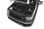 Car Stock 2017 Toyota Sequoia SR5 5 Door SUV Engine  high angle detail view