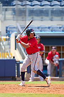 FCL Twins first baseman Alexander Pena (13) bats during a game against the FCL Rays on July 20, 2021 at Charlotte Sports Park in Port Charlotte, Florida.  (Mike Janes/Four Seam Images)