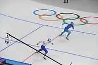 OLYMPIC GAMES: PYEONGCHANG: 18-02-2018, Gangneung Oval, Long Track, 500m Ladies, Yvonne Daldossi (ITA), Elina Risku (FIN), ©photo Martin de Jong