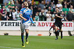 St Johnstone v Celtic…20.08.16..  McDiarmid Park  SPFL<br />David Wotherspoon reacts as a pass goes astray<br />Picture by Graeme Hart.<br />Copyright Perthshire Picture Agency<br />Tel: 01738 623350  Mobile: 07990 594431